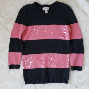 Loft Sweater Pink and Charcoal Gray